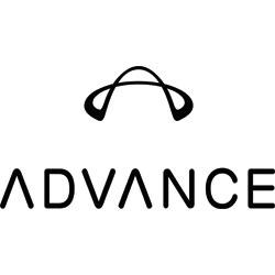 Das Bild zeigt das Logo der Firma Advance. Die Firma stellt Ausrüstung zum Gleitschirmfliegen her.