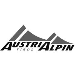 Das Bild zeigt das Logo der Firma AustriAlpin. Die Firma stellt Ausrüstung zum Gleitschirmfliegen her.