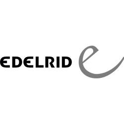 Das Bild zeigt das Logo der Firma Edelrid. Die Firma stellt unter anderem Ausrüstung zum Gleitschirmfliegen her.