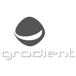 Das Bild zeigt das Logo der Firma Gradient. Die Firma stellt Ausrüstung zum Gleitschirmfliegen her.