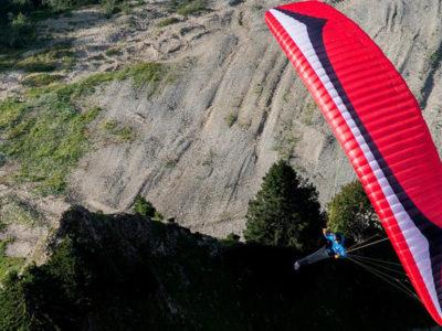 EN-B Schirm Gin Gliders Explorer Gleitschirm mit Liegegurt von oben
