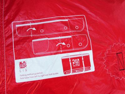 Gin Gliders Concertina Bag Zellenpacksack mit Kompressionsband für den Gleitschirm Bedienungsanleitung