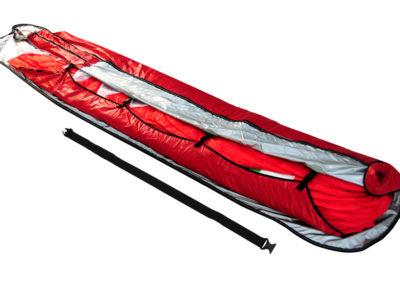 Gin Gliders Concertina Bag Zellenpacksack mit Kompressionsband für den Gleitschirm gepackt mit Schirm