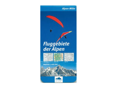 Karte Gleitschirm Flugkarte Fluggebiete der Alpen Mitte