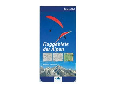 Karte Gleitschirm Flugkarte Fluggebiete der Alpen Ost
