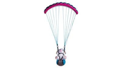 Nova Spielzeug Gleitschirm mit Teddy mit rose Schirm