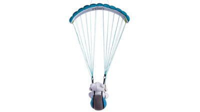 Nova Spielzeug Gleitschirm mit Teddybär im Flug