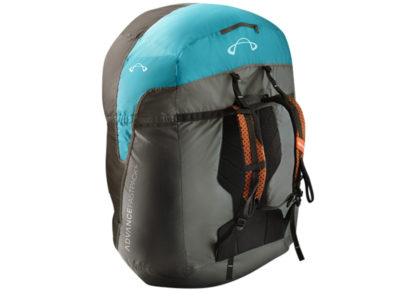 Advance Fastpack Schnellpacksack gepackt mit Gleitschirm