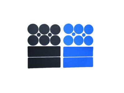 Gleitschirm Reparaturkit blau und schwarz
