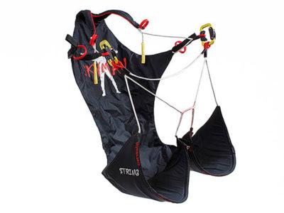 Skyman String Leichtgurtzeug für Bergsteiger oder Hike and Fly Gleitschirm von vorne