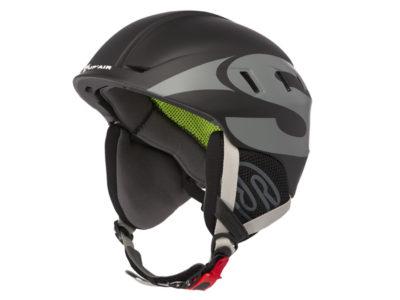 Supair Flughelm School schwarz Helm zum Gleitschirmfliegen von vorne