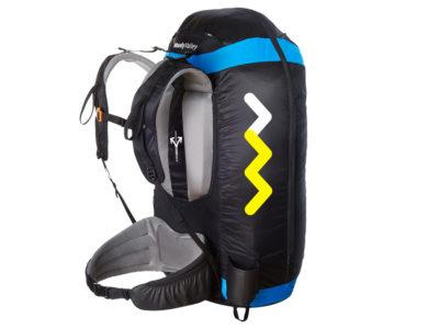 Woody Valley Wani Light Wendegurtzeug zum Gleitschirmfliegen gepackt mit Gleitschirm