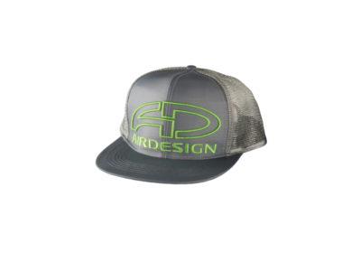 Air Design Trucker Cap grau mit grünem Logo