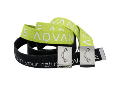 Advance Gürtel mit Logo schwarz und grün