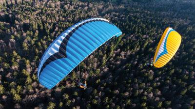 Gin Gliders Bolero 6 EN-A Gleitschirm im Flug von oben