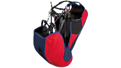 Tandedmgurt und Passagiergurtzeug zum Gleitschirmfliegen Icaro Batis mit Airbag Protektor