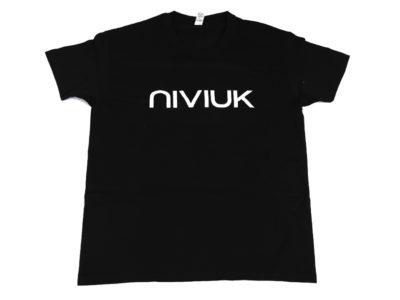 Niviuk T-Shirt zum Gleitschirmfliegen für Herren in Schwarz Frontal