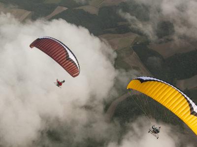 Motorschirm Gin Gliders Pegasus im Flug von oben
