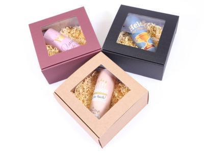 Gleitschirm Tandemflug Geschenkbox in drei verschiedenen Farben