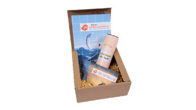 Gleitschirm Tandemflug Geschenkbox beige