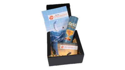 Gleitschirm Tandemflug Geschenkbox für Herren und Buben