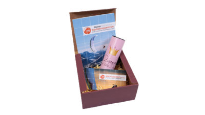 Gleitschirm Tandemflug Geschenkbox für Damen und Mädchen
