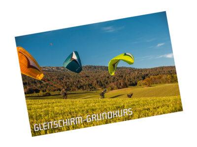 Gutschein Gleitschirm fliegen lernen Ausbildung Grundkurs