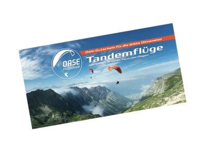 Gutschein Gleitschirm Tandemflug Allgäu Nebelhorn