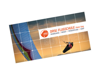 Oase Flugschule Gutschein Wertgutschein