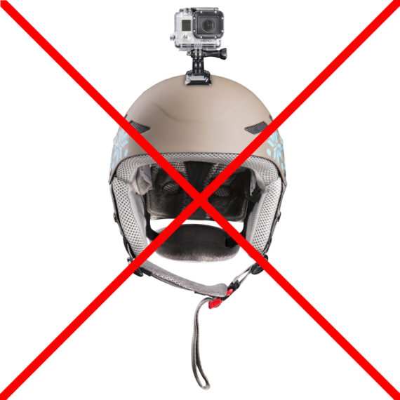GoPro am Helm beim Gleitschirmfliegen ist nicht empfohlen