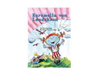 Das Bild zeigt das Gleitschirm Kinderbuch Karamell von Landskron