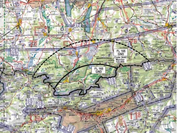 Flugverbot Zone Tirol und Bayern im Juli