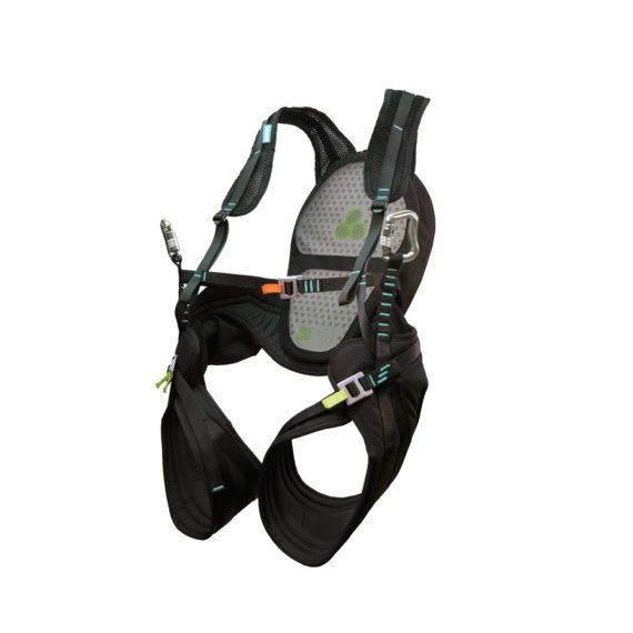 Das Bild zeigt das Speedriding Gutzeug Neo Body. Dieses wird zum Gleitschirmfliegen genutzt. Es ist ein Gurtzeug.