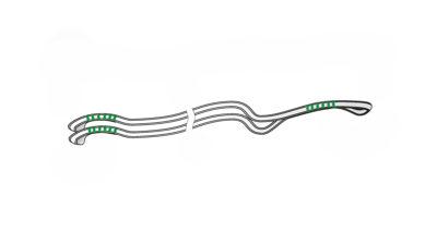 Super Dynema Verbindungsleine Tandem
